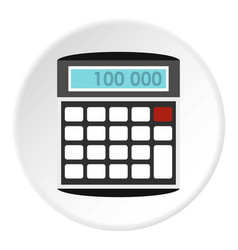 Calculator icon circle vector