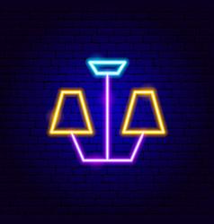 chandelier neon sign vector image