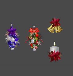 Christmas decoration set vector