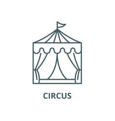 circus line icon linear concept outline vector image