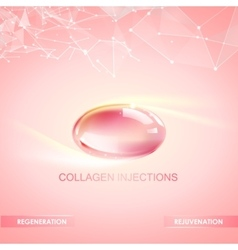 Collagen natural product vector image