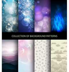 Collection set of background patterns vector
