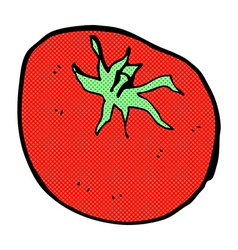 comic cartoon tomato vector image