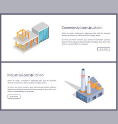 Commercial construction set vector