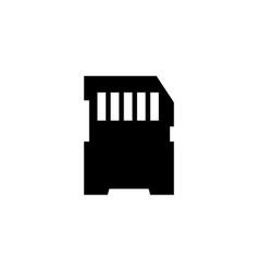 Compact memory card micro sd flat icon vector