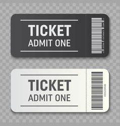 creative of empty ticket vector image