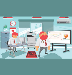 cute a working environment vector image