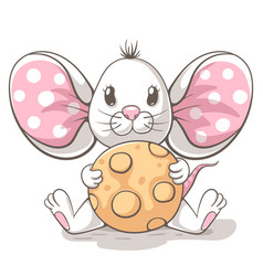 cute funny tedy mouse cartoon characters vector image