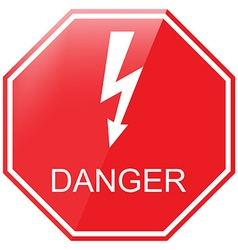 Danger warning sign vector