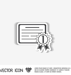 Diploma for the first place vector