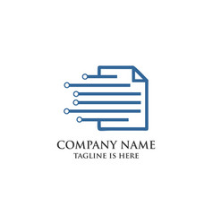 document modern symbol logo vector image