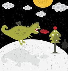 Dragon on Moon vector image