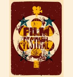 film festival retro typographical poster vector image