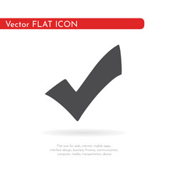 flat check icon for web business finance and vector image