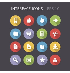 Flat icons for interface vector