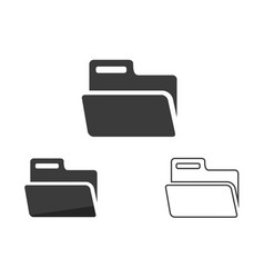 folder icon set folders icon web icon flat style vector image
