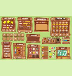 game gui 30 vector image