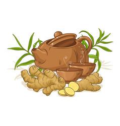 Ginger tea vector