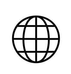 globe icon line vector image