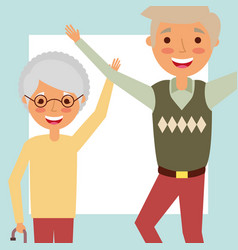 Grandparents day people vector