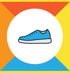 Gumshoes colorful outline symbol premium quality vector