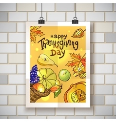 happy thanksgiving day vector image