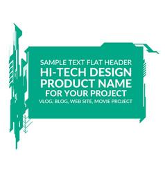 Hi-tech elements rectangle vector
