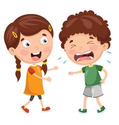 Kid crying vector