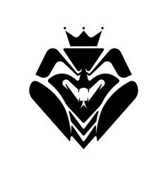 king cobra snake mascot logo template vector image