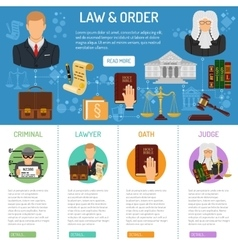 Law and order infographics vector