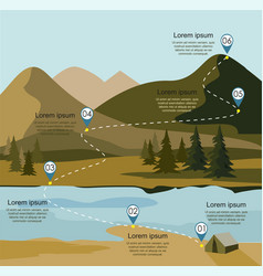 Layers of mountain landscape with fir forest vector