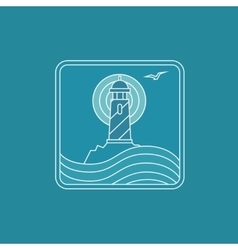 Lighthouse logo design template in trendy vector