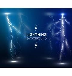 Lightning flash strike background vector