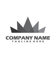 luxury crown logo classic and elegant logo vector image