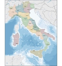 map italy vector image