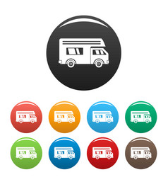 Motor house icons set color vector