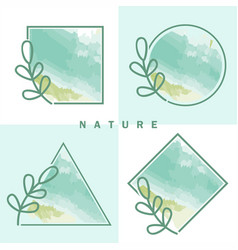 nature organic frame collection vector image