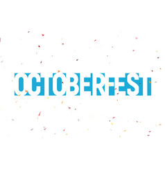 oktoberfest festival label blue text with vector image