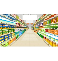 Painted commercial premises in the store vector