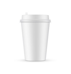 Paper coffee cup mockup isolated vector