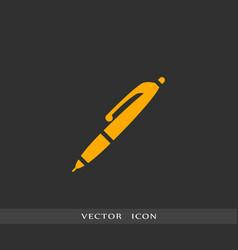pen icon simple vector image