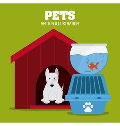Pet shop design vector image