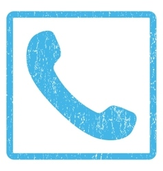 Phone Receiver Icon Rubber Stamp vector