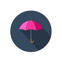Pink umbrella icon vector image