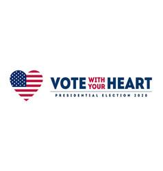 presidential election 2020 in us november 3 vote vector image