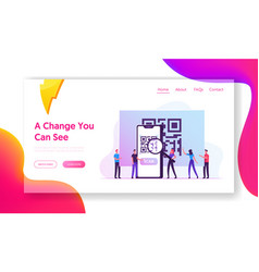 purchase quality control website landing page vector image