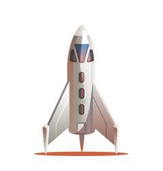 Rocket preparing for launch vector