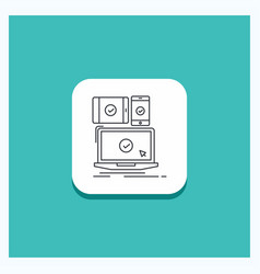 round button for computer devices mobile vector image
