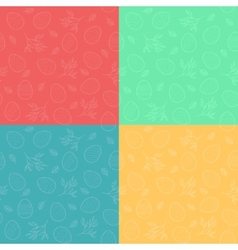Seamless patterns with Easter eggs vector image