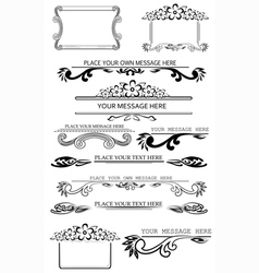 set of caligraphic design elements 2 vector image